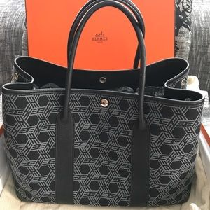 Hermes Garden Party Black and Grey